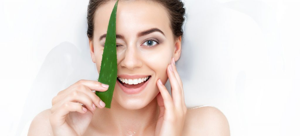 aloe vera - for natural skin