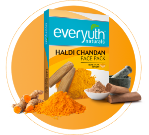 everyuth haldi chandan face pack for dull skin