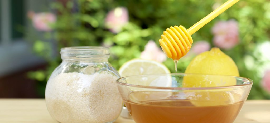 sugar and honey peel off