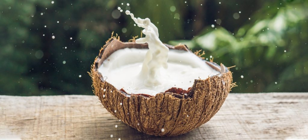 Coconut milk - natural tan removal
