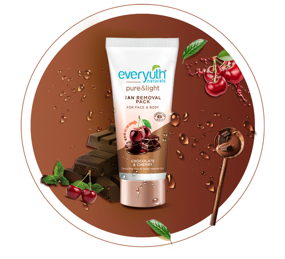 Everyuth Chocolate and Cherry Tan Removal Pack