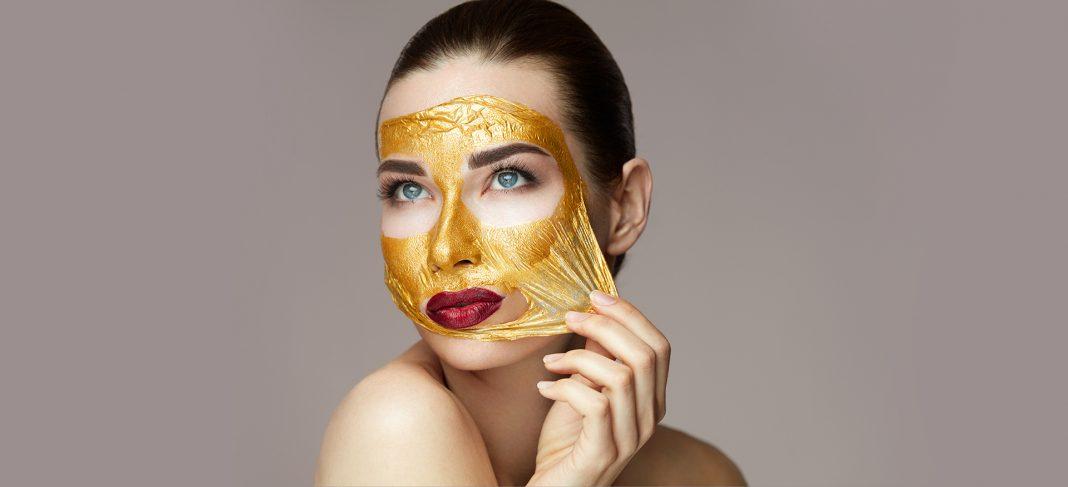 Golden glow peel of mask