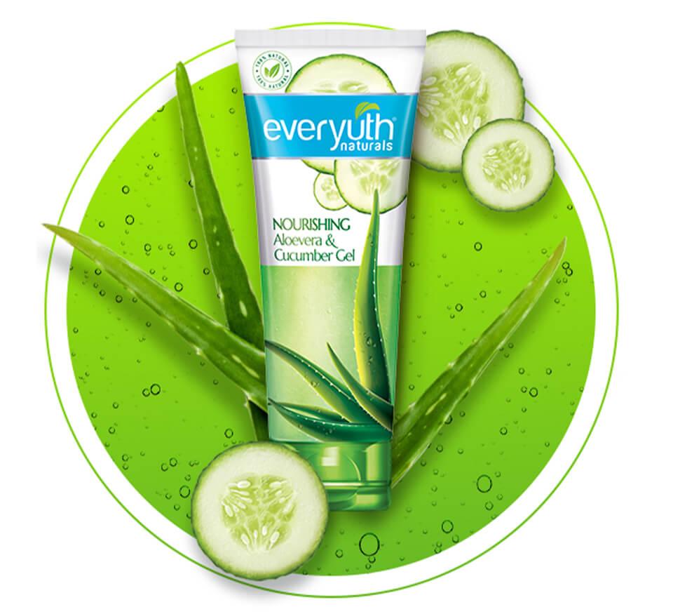Everyuth Naturals Aloe Vera Cucumber Gel