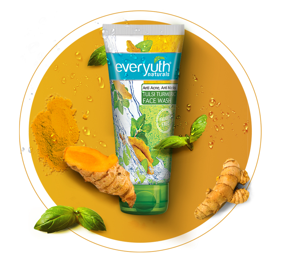 Everyuth Natural's  Tulsi Turmeric Face Wash