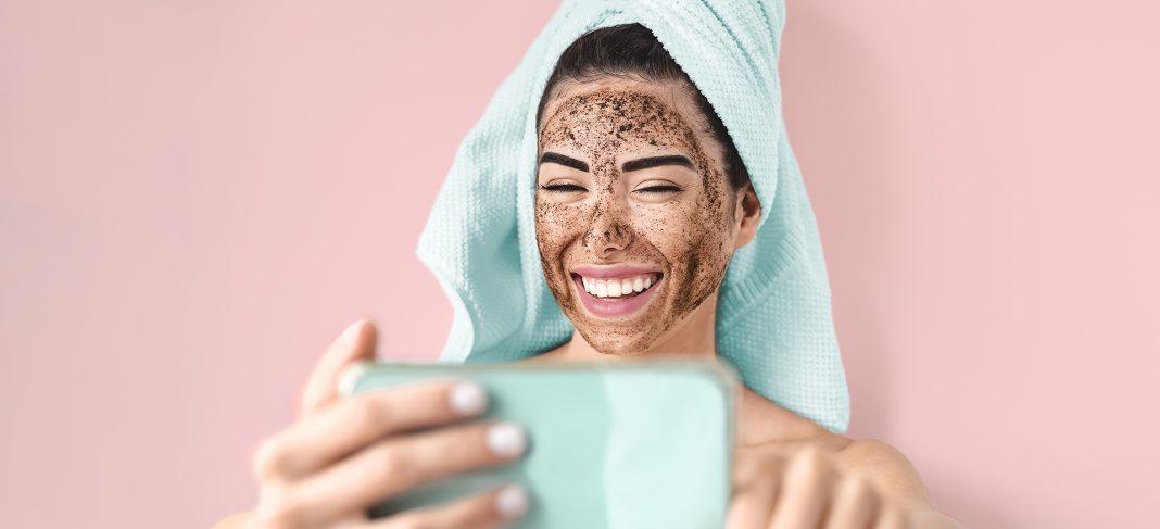 Women Using Scrub for Exfoliating Skin