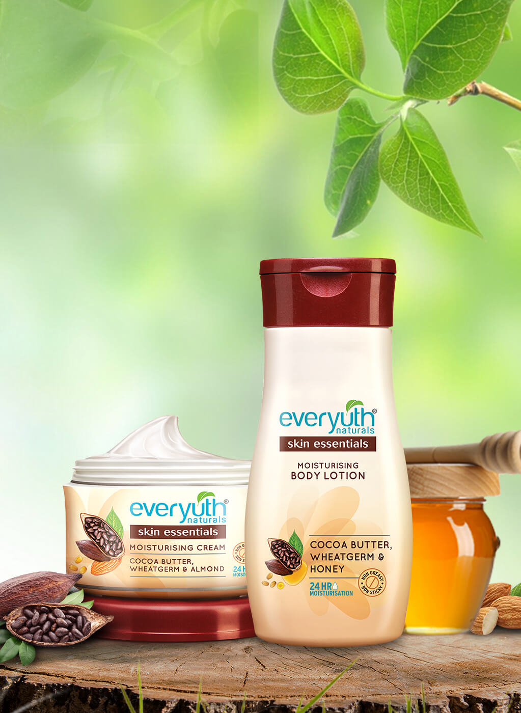 Moisturizing Cream & Body Lotion For Dry Skin from Everyuth Naturals