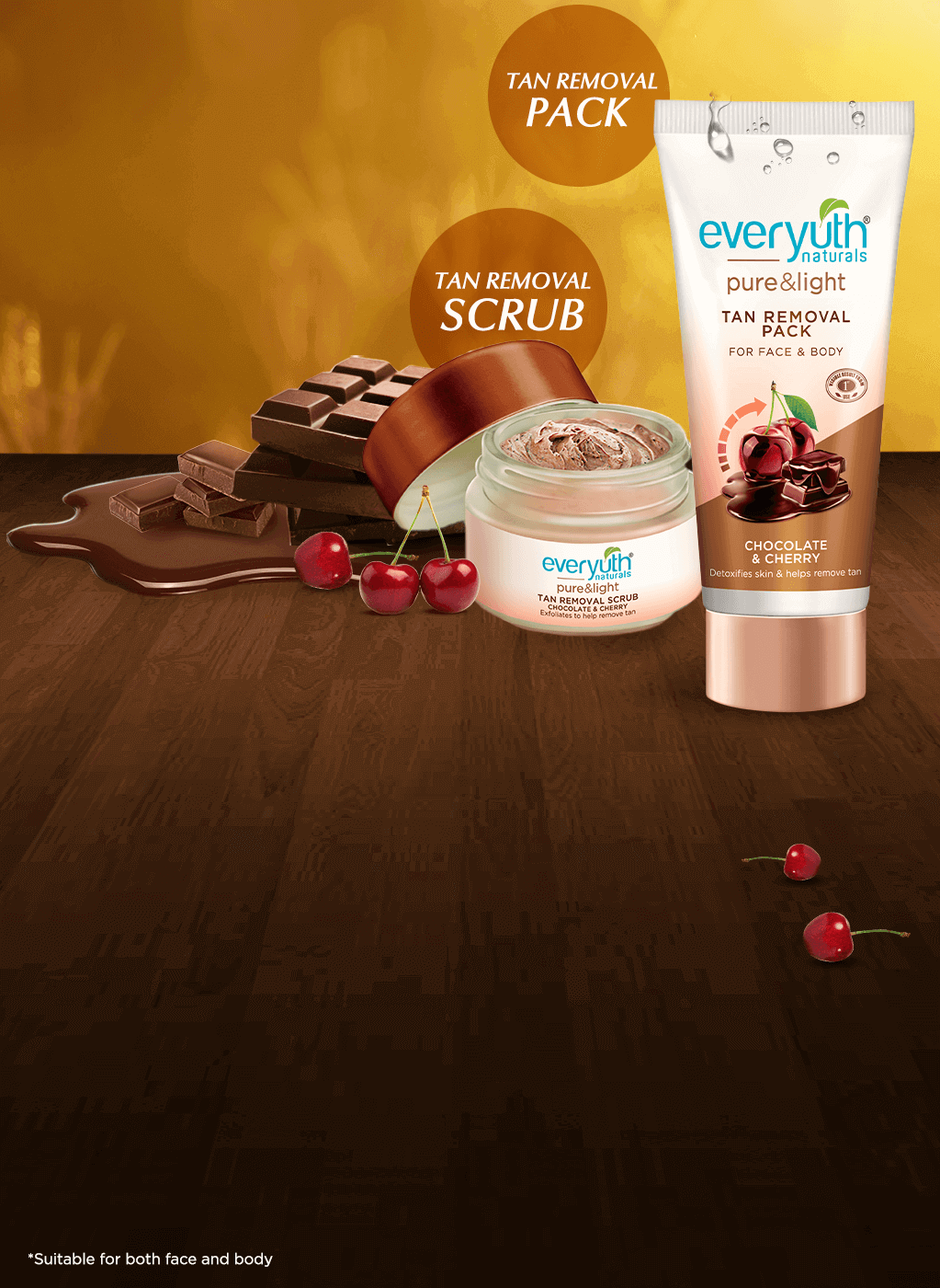 Everyuth Naturals - Tan Removal Scrub & Pack For Face & Body