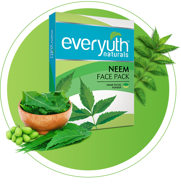 Neem Powder Face Pack for Pimples from Everyuth Naturals
