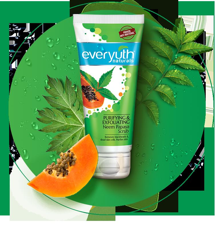 Papaya Face Scrub | Blackhead Removal Scrub from Everyuth Naturals