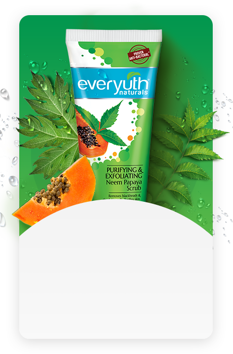 Neem Papaya Face Scrub | Papaya Face Pack Benefits from Everyuth Naturals